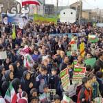 راهپیمایی ۲۲بهمن باحضورگسترده مردم درگیلانغرب برگزارشد + تصاویر