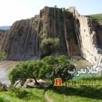 آبشار تنگ گولَم گیلانغرب مکانی مناسب برای مسافران نوروزی