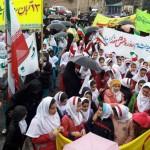 مراسم راهپیمایی ۱۳ آبان درگیلانغرب برگزار شد+ تصاویر