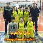 کسب نایب قهرمانی دانش آموزان ابتدایی (پسر)گیلانغرب در مسابقات قهرمانی والیبال آموزشگاه های استان