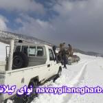 نجات زن باردارونوزادش از محاصره برف دراسلام آباد+تصاویر