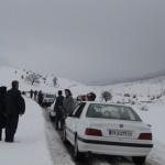 برف وکولاک در گردنه وجادهای گیلانغرب + تصاویر