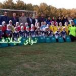 قهرمانی تیم فوتبال دختران کرمانشاه در المپیاد استعدادهای برتر با حضوردو فوتبالیست گیلانغربی +عکس